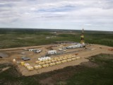 An aerial view of drilling site at Vankor oilfield on July 14, 2006. ??????? ???????? ?? ?????????? ????????????? 14 ???? 2006.